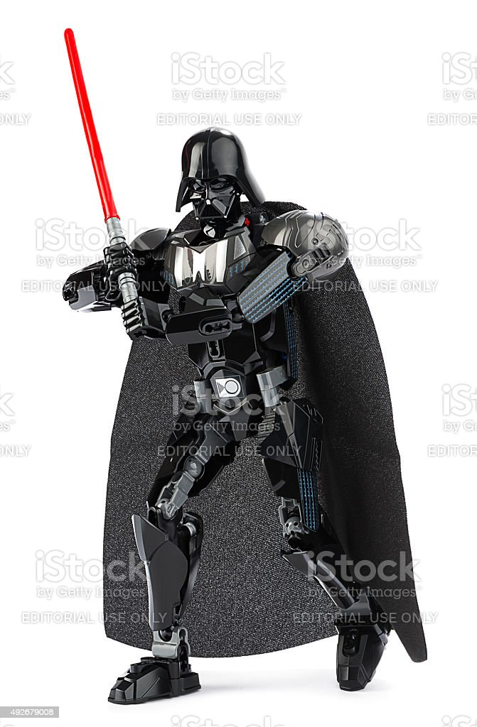 LEGO Darth Vader with Lightsaber stock photo