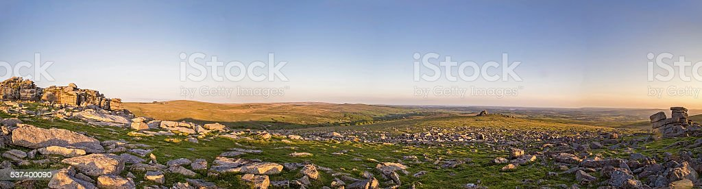 Dartmoor Great Staple Tor stock photo