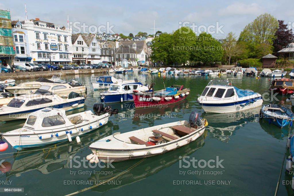 Dartmouth Devon met prachtige lente weer op vrijdag 18 mei 2018 - Royalty-free Aangemeerd Stockfoto