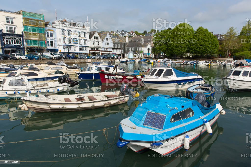 Dartmouth Devon with beautiful spring weather on Friday 18th May 2018 - Royalty-free Beauty Stock Photo