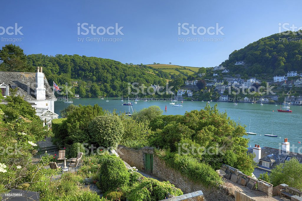 Dartmouth from Kingswear stock photo
