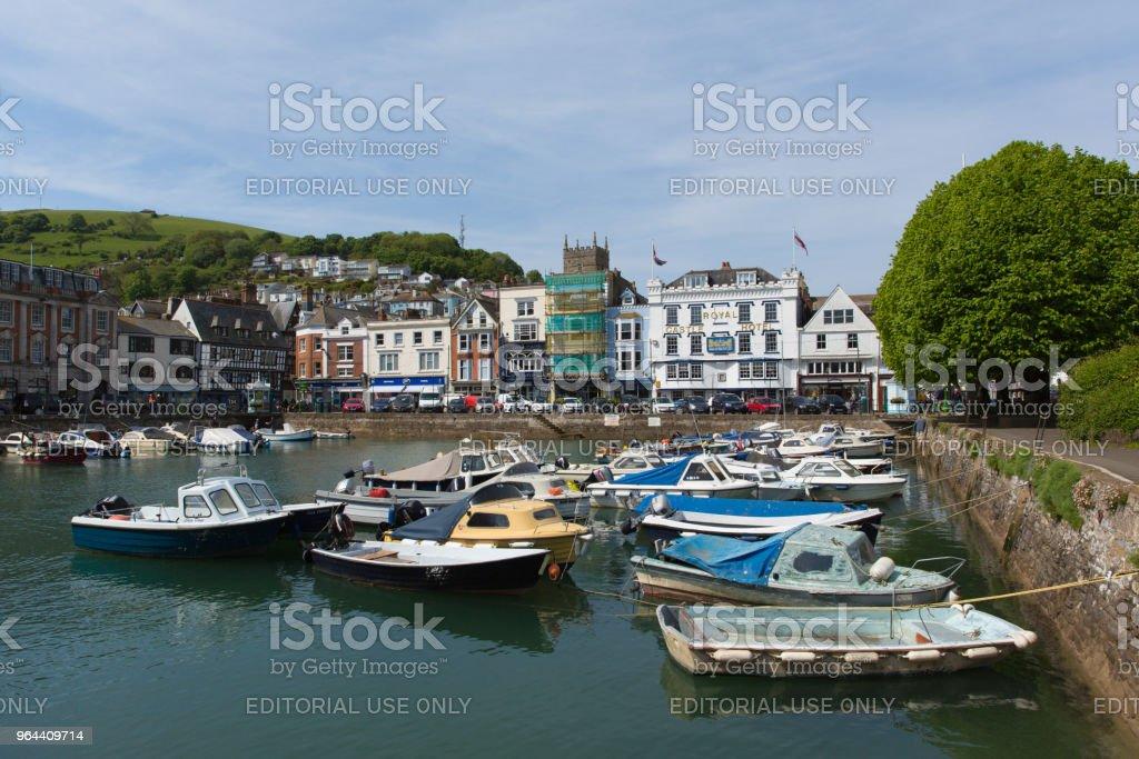 Dartmouth haven, Devon in prachtige lente weer op donderdag 17 mei 2018 - Royalty-free Aangemeerd Stockfoto
