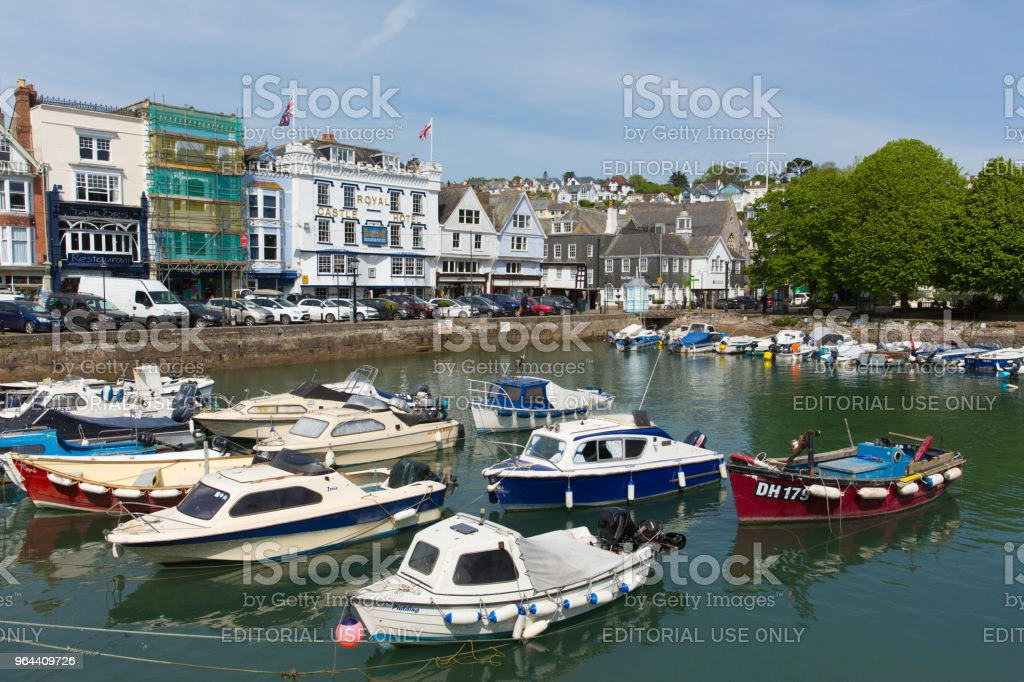 Dartmouth harbour Devon in beautiful spring weather on Thursday 17th May 2018 - Royalty-free Blue Stock Photo