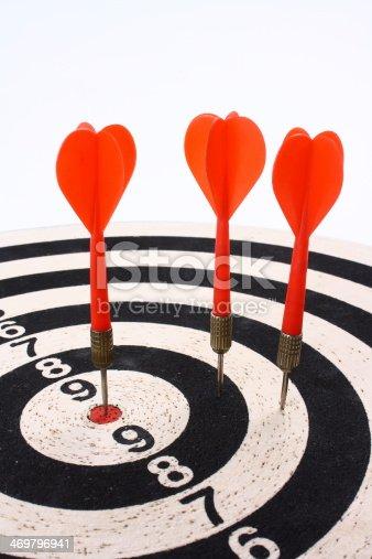 istock Darts and dartboard 469796941