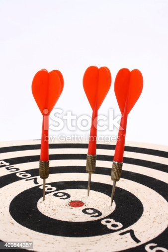 istock Darts and dartboard 469844387
