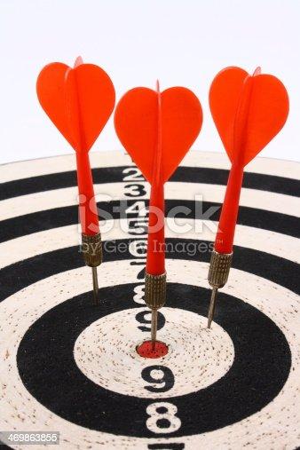 istock Darts and dartboard 469863855