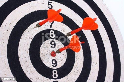 istock Darts and dartboard 469867481