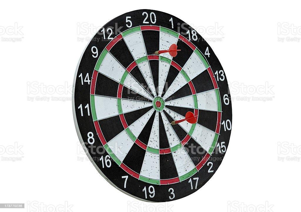 darts and target royalty-free stock photo