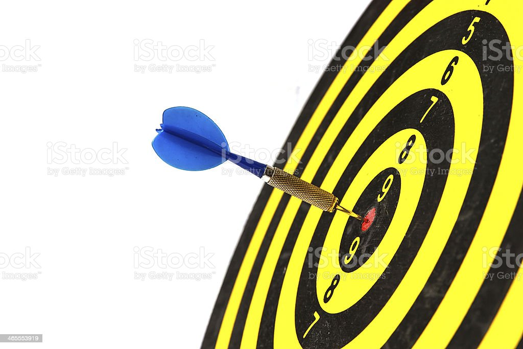 Darts arrows in the target center royalty-free stock photo