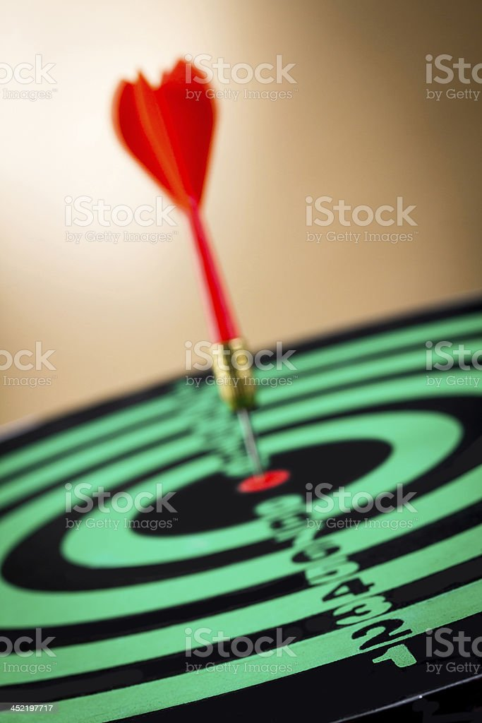 darts arrows in the target royalty-free stock photo