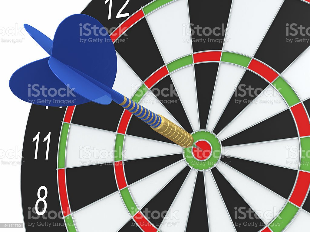 Darts. Blue arrow royalty-free stock photo