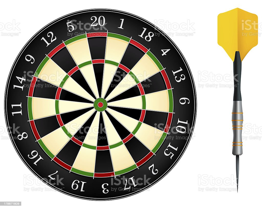 Darts Board royalty-free stock photo
