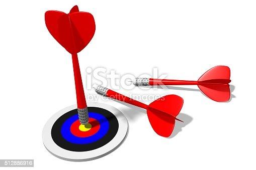 859332096 istock photo 3D darts concept 512886916