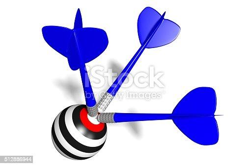 istock 3D darts concept 512886944