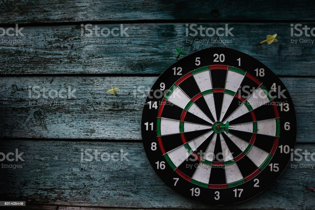 Darts. Hit right on target. Wins resistant stock photo