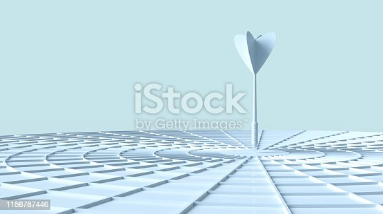 803405898 istock photo Darts hitting in the target 1156787446