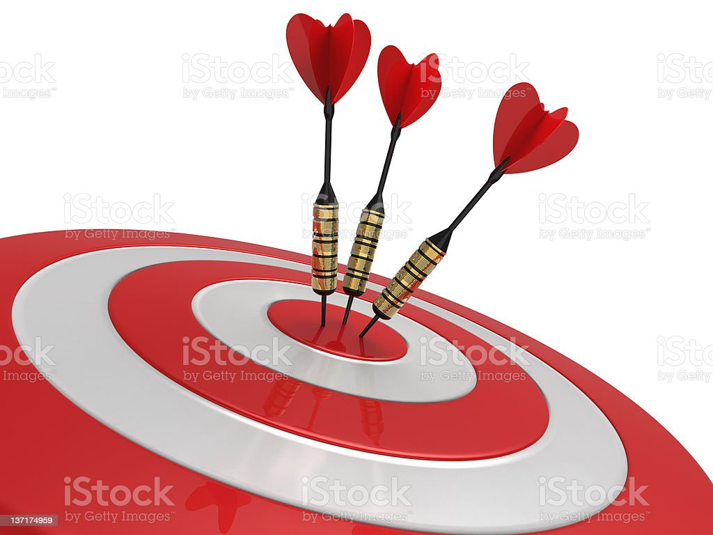 Darts Hitting The Target royalty-free stock photo