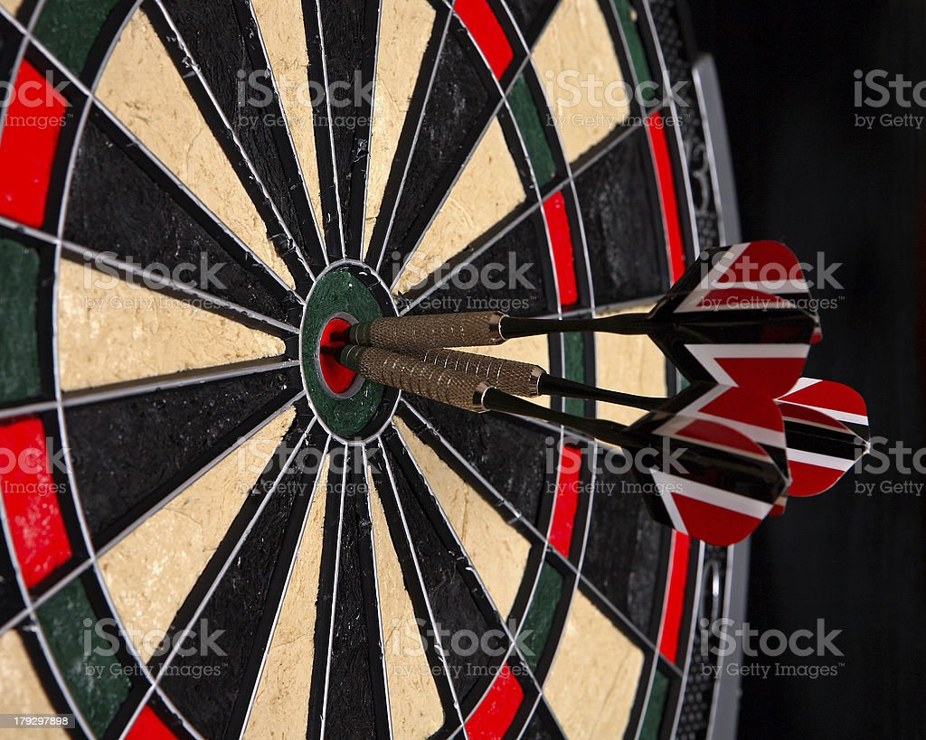 Darts in a dartboard royalty-free stock photo