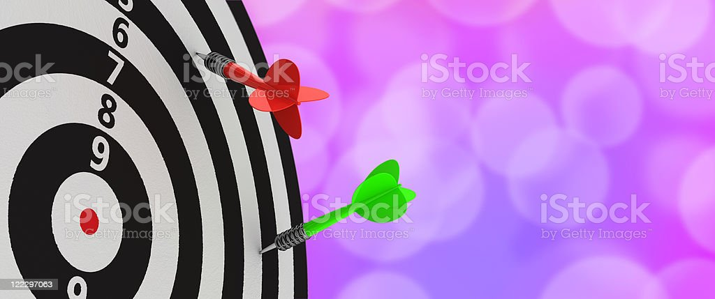 Darts looser stock photo