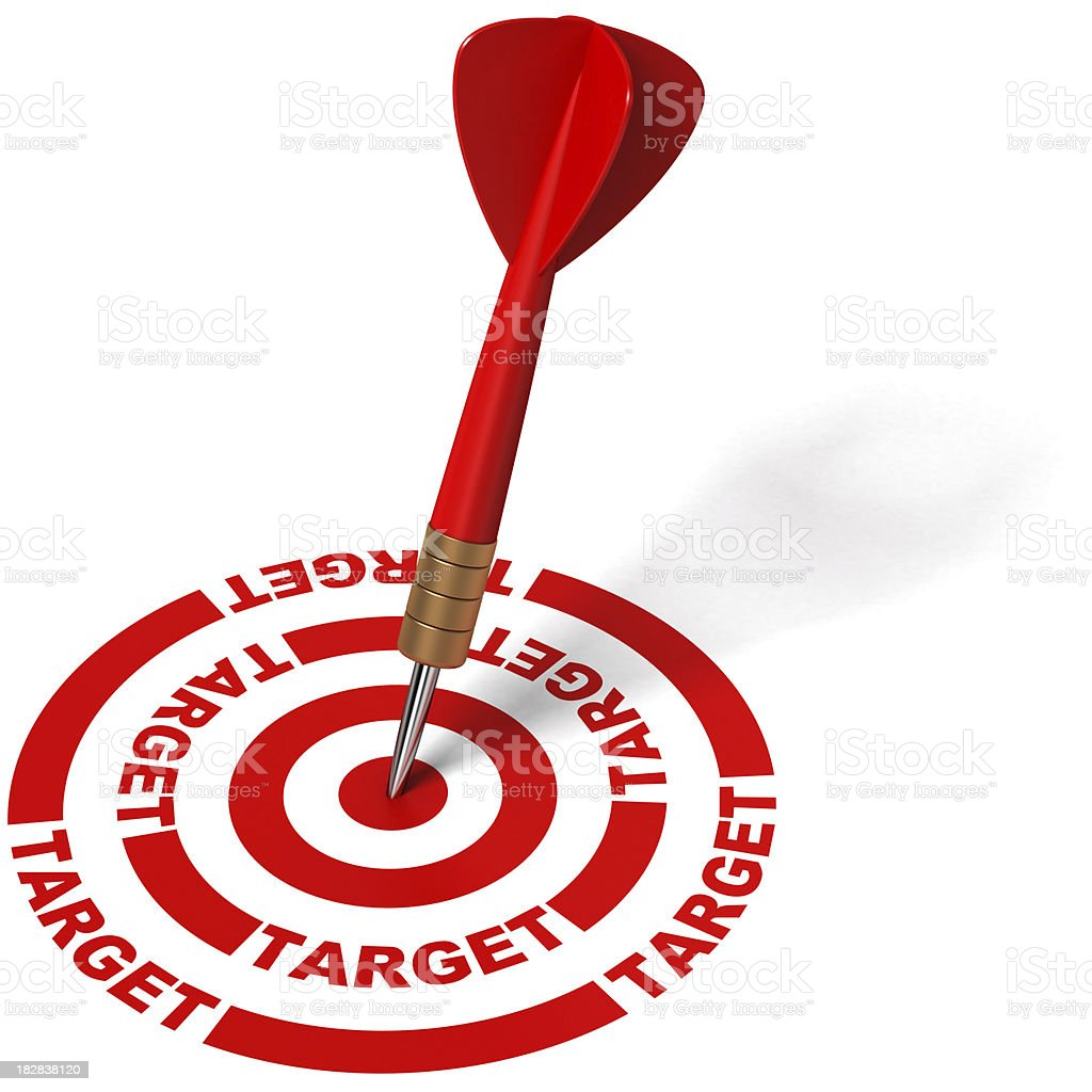 Darts on target. royalty-free stock photo