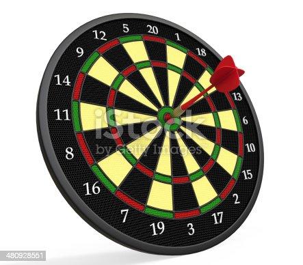 istock Darts on Target 480928551