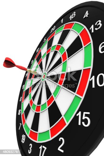 istock Darts on Target 480932761