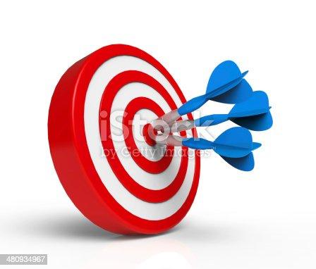 istock Darts on Target 480934967