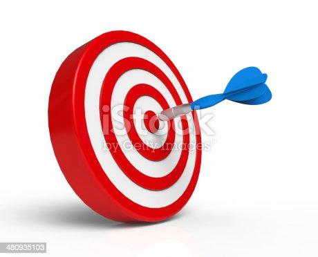 istock Darts on Target 480935103