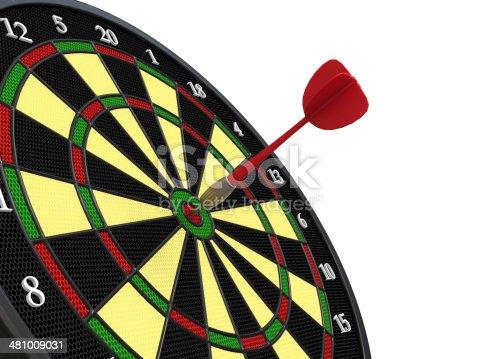 istock Darts on Target 481009031