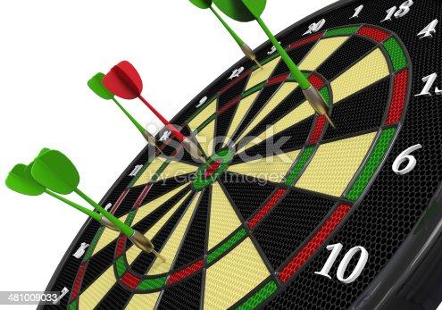 istock Darts on Target 481009033