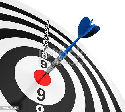 istock Darts on Target 508233943