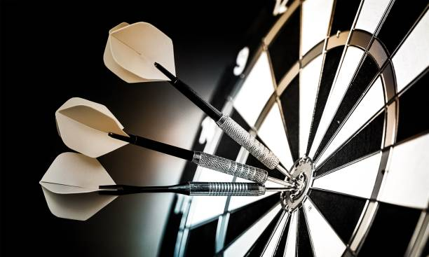 Darts. Dartboard with arrows on ackground darts stock pictures, royalty-free photos & images
