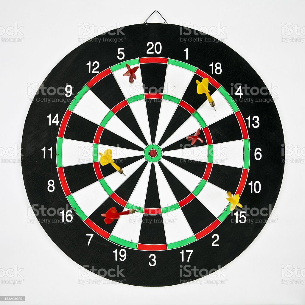Darts target concept: fail royalty-free stock photo