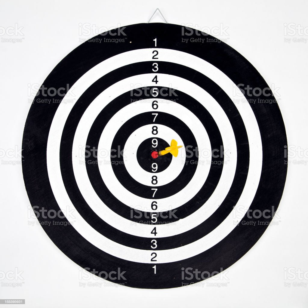 Darts target concept: win royalty-free stock photo