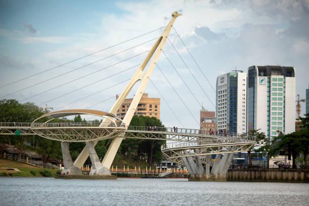Darul Hana bridge Kuching stock photo