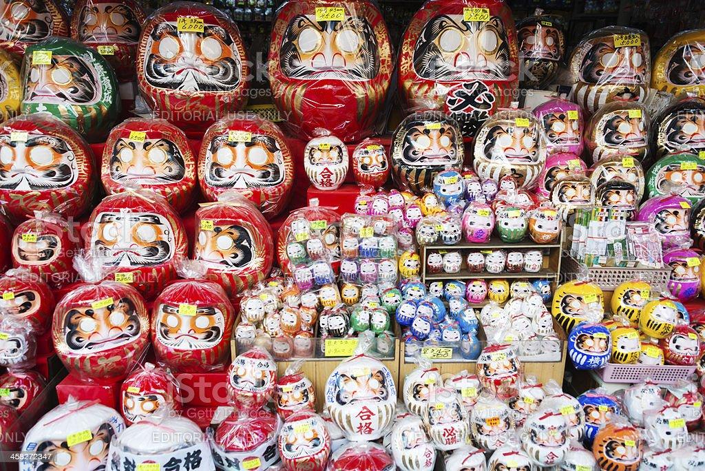 Daruma dolls stock photo