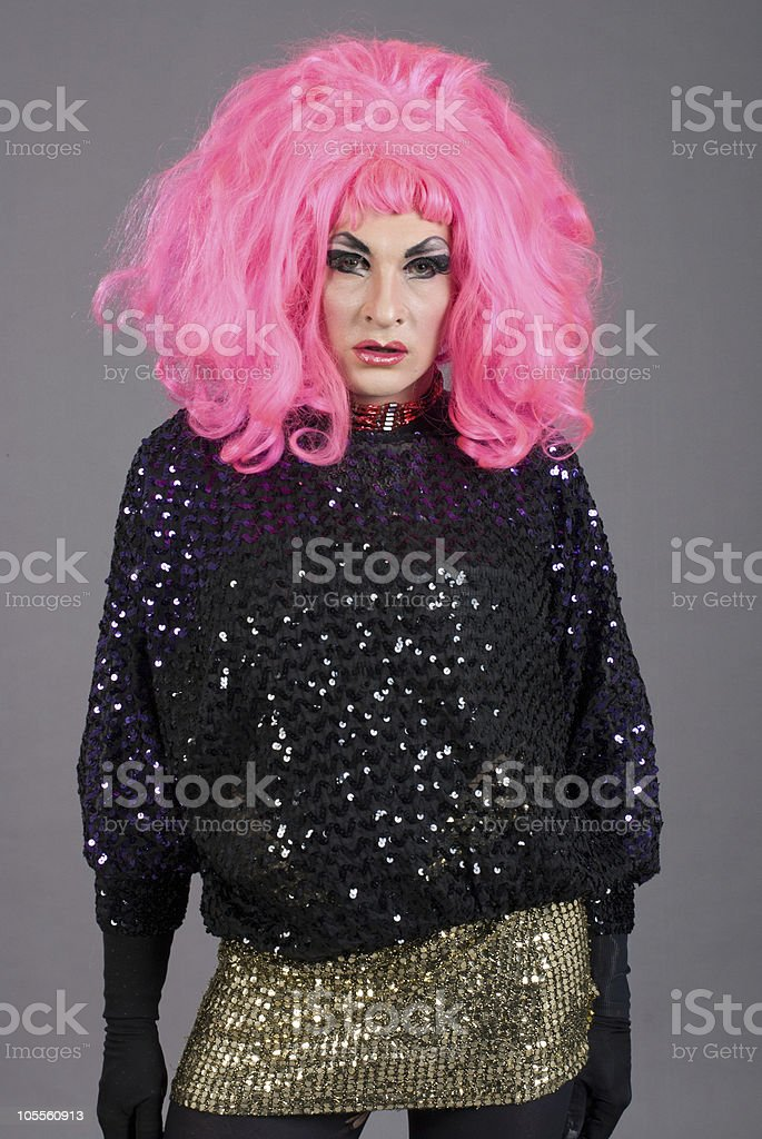 Daruma Drag Queen disco stock photo