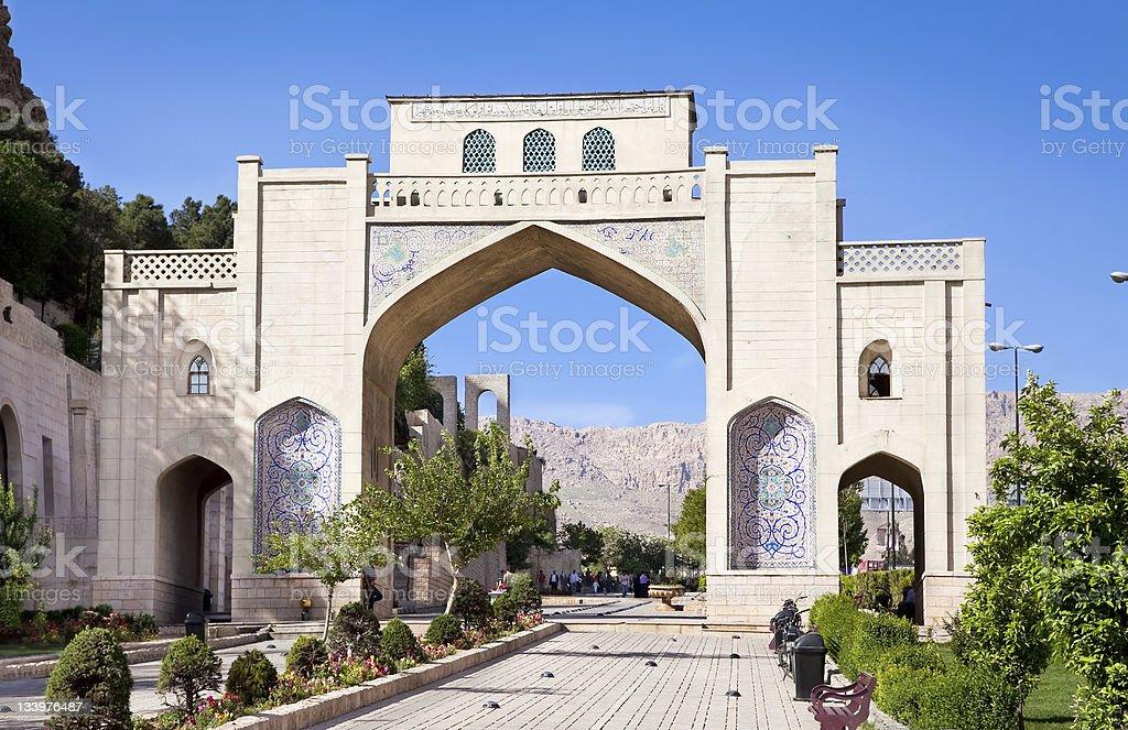 Darvazeh Quran Gate  in Shiraz stock photo