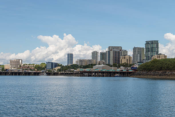 darwin and fishermans wharf area - darwin stock photos and pictures