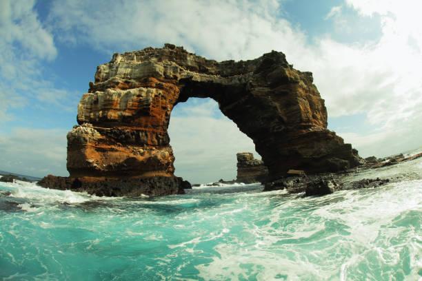 Darwin Arch in Galapagos islands stock photo
