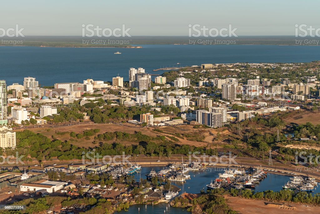 Darwin city from Duckpond stock photo