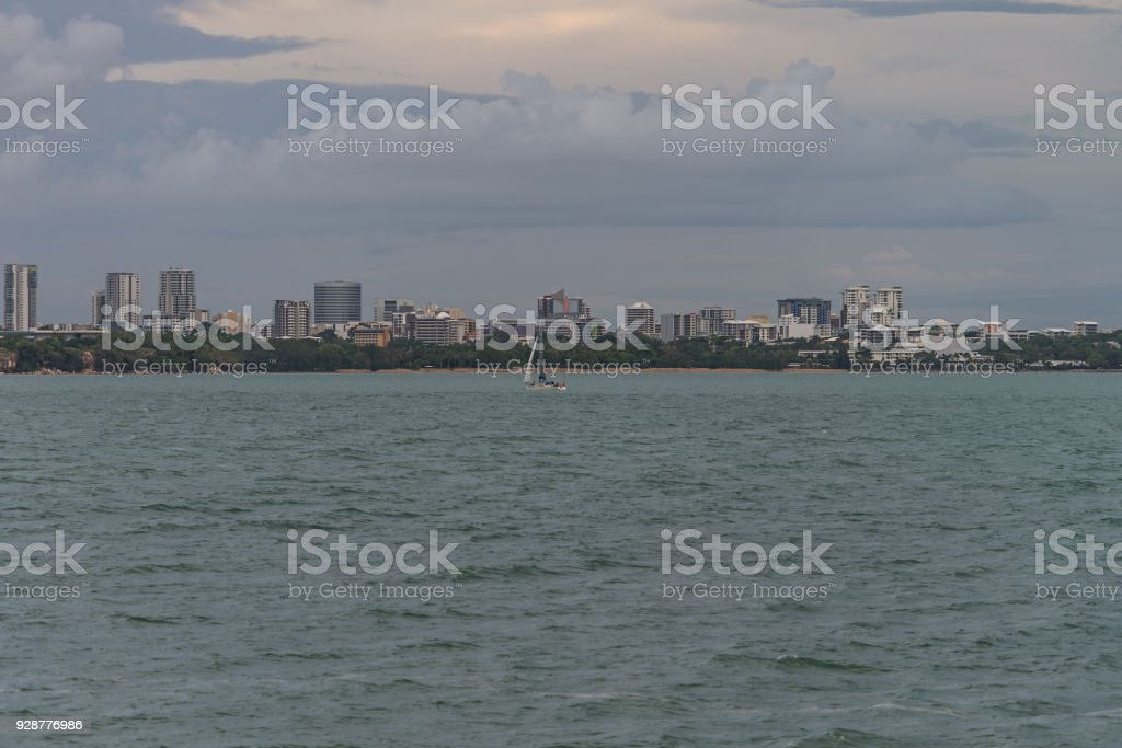 Darwin city from East Point stock photo