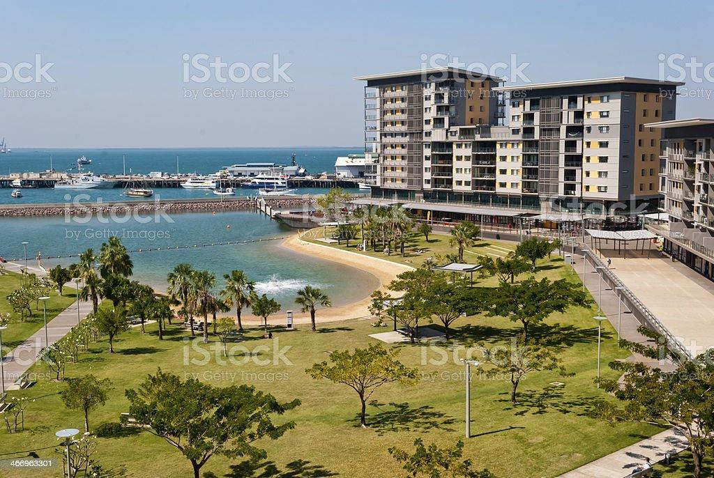 Darwin City Waterfront development stock photo