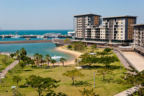 darwin city waterfront development - darwin stock photos and pictures