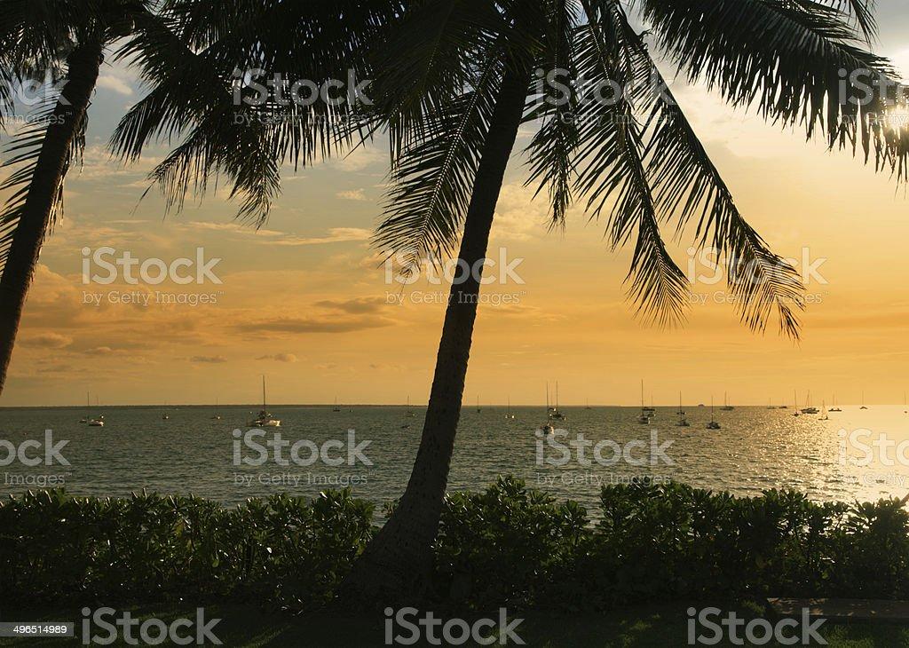 Darwin ocean view stock photo