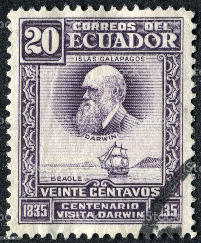 Darwin Stamp royalty-free stock photo