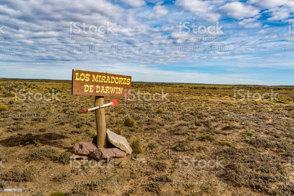 Darwin Viewpoint, Santa Cruz Argentina stock photo
