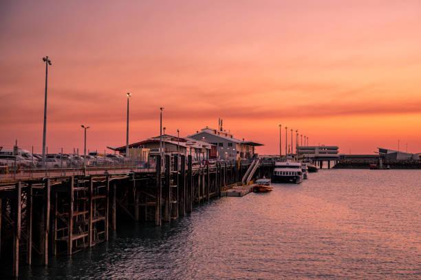Darwin Waterfront Sunset stock photo