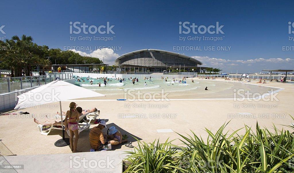 Darwin Wave Pool stock photo