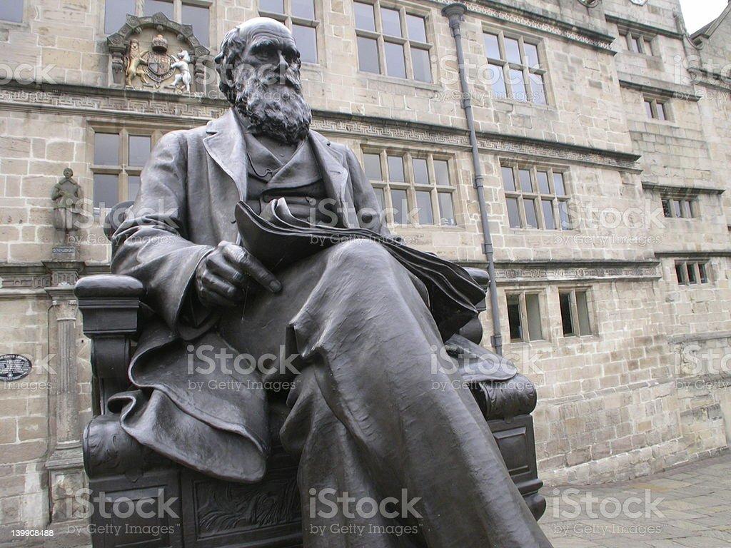Darwin's statue royalty-free stock photo